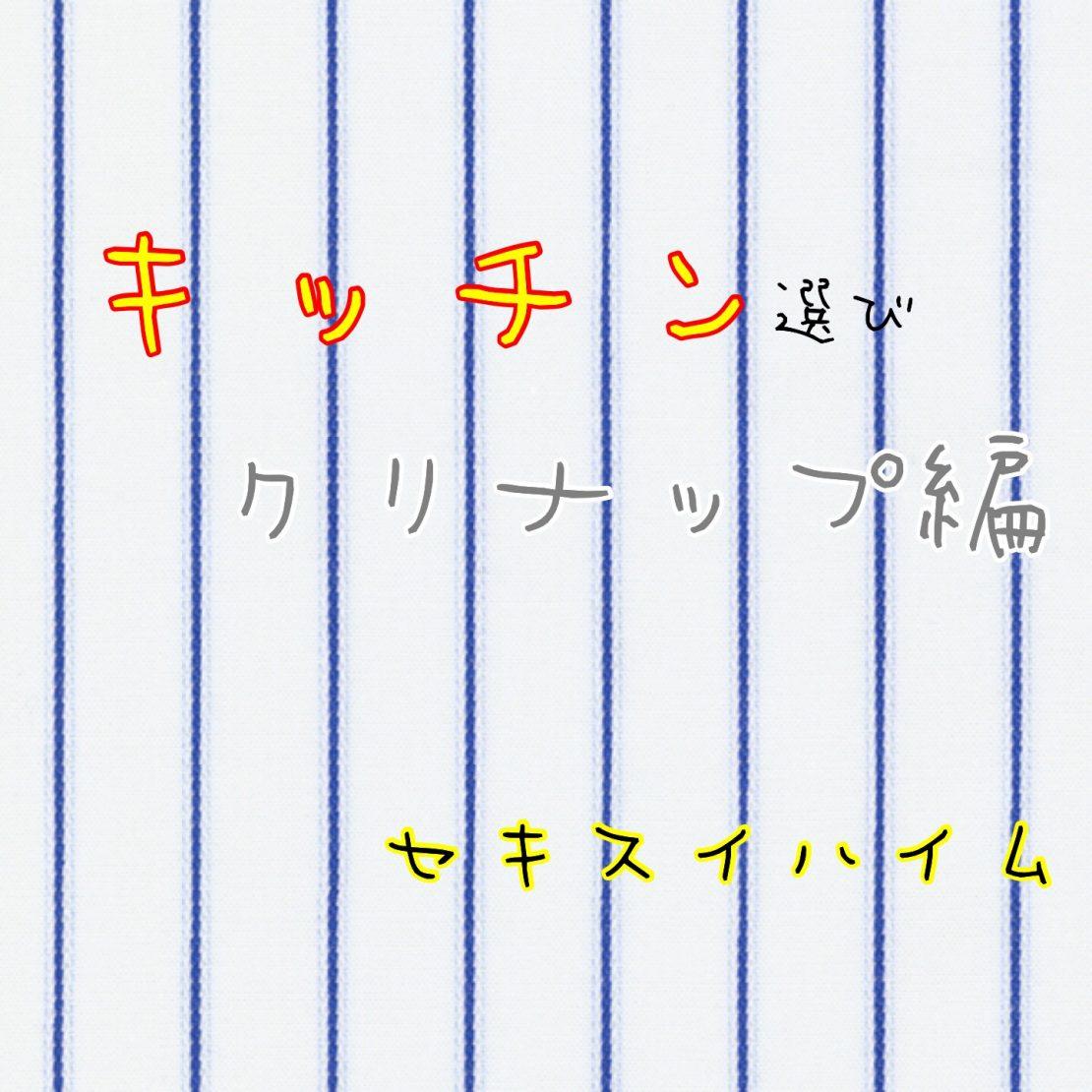 キッチン仕様〜クリナップ編〜