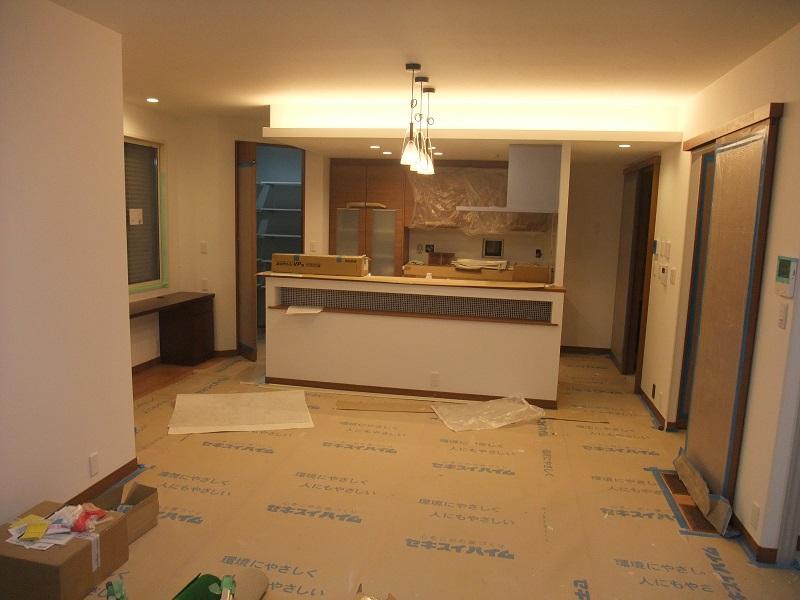 建物工事 完了。