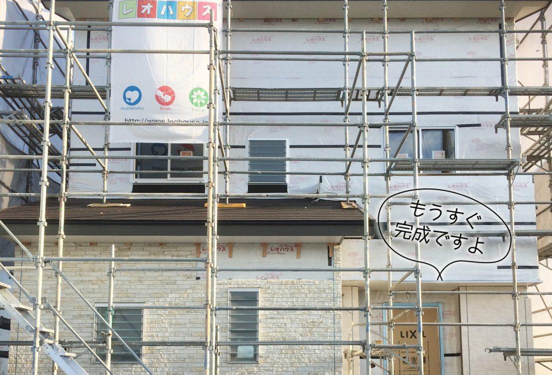 棟上~大工工事終了まで 窓・外壁・階段など